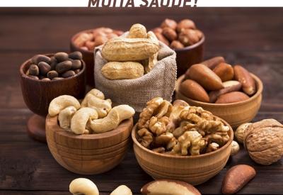 Consuma mais alimentos oleaginosas